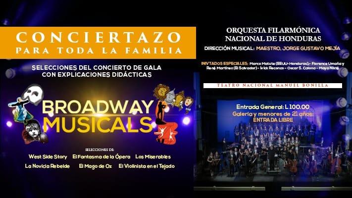 BROADWAY MUSICALS - FILARMONICA DE HONDURAS